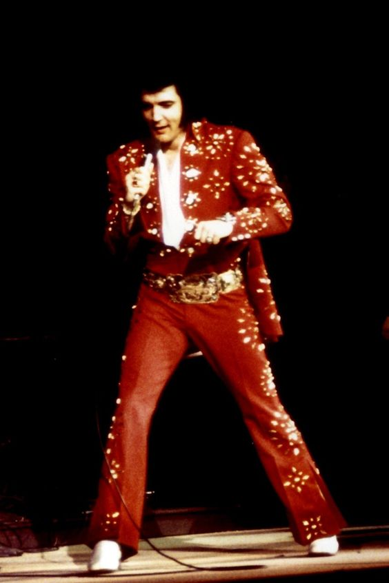 Elvis Presley Outfits King in Red