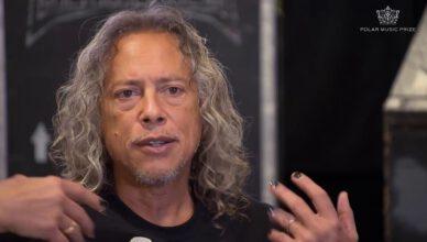 Metallica's Kirk Hammett Kisses An Unexpected Thing